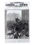 Fighting at the Liverpool General Transport Strike, Cover of 'The Illustrated London News' Giclee Print by Hermanus Koekkoek