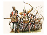 The Wonderful Story of Britain: the Bowmen of Britain Giclee Print by Peter Jackson