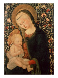 Madonna and Child Seated, Child Holding a Bird Giclée-Druck von Pier Francesco Fiorentino