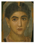 Female Mummy Portrait, from Thebes, 2nd Century Giclee Print by Roman Period Egyptian