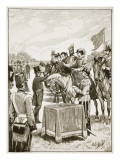 Queen Victoria at the First Presentation Fo the Victoria Cross Giclee Print by  English School