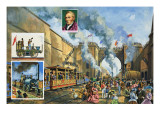 The Opening of the Liverpool and Manchester Railway on 15th September 1830 Giclee Print by Green