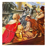 Protestants Fleeing from France During the Time of Louis Xiv Giclee Print by C.l. Doughty