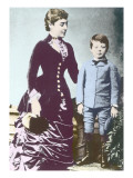 Winston Churchill with His Mother, Lady Randolph Churchill Giclee Print by English Photographer