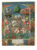 A Knightly Tournament, from 'Lancelot Du Lac', Printed by Antoine Verard Giclée-Druck von French School