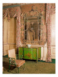 Commode and Chair in the State Bedchamber at Nostell Priory, Yorkshire Giclee Print by Thomas Chippendale