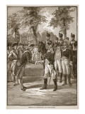 Meeting of Washington and Rochambeau, Pub. 1896 Reproduction proc&#233;d&#233; gicl&#233;e par Alfred Rudolf Waud