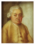 Portrait of Carl Philipp Emanuel Bach, C.1780 Giclee Print by Johann Philipp Bach
