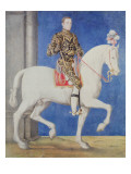 Equestrian Portrait Presumed to Be Dauphin Henri Ii Giclee Print by Francois Clouet