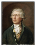 Portrait of the Artist, Bust Length, in a Green Coat and White Stock Giclee Print by Thomas Gainsborough