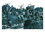 Artist's Impression of the Anglo-Saxon Ship-Burial at Sutton Hoo Giclee Print by Richard Hook