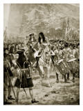 The Surrender of Gibralter to the English, 24th July 1704 Reproduction procédé giclée par Richard Caton Woodville II