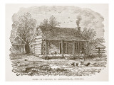 Home of Lincoln at Gentryville, Indiana, from a Book Pub. 1896 Reproduction procédé giclée par American School