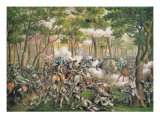 Battle of the Wilderness, May 1864, Engraved by Kurz and Allison, 1887 Premium Giclee Print by  American School