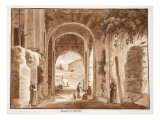 The Chapel of the Hermit in the Colosseum, 1833 Giclee Print by Agostino Tofanelli