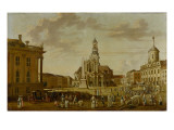 The Alter Markt with the Church of St. Nicholas and the Town Hall, 1771 Giclee Print by  German School