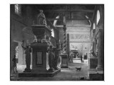 The Great Room of the Musee Des Monuments Francais, C.1820 Giclée-Druck von Jean Lubin Vauzelle