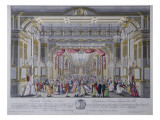 Ball Following the Coronation of Leopold Ii as King of Bohemia in Prague in 1791 Giclee Print by Caspar Pluth