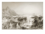 Clew Bay Seen from Westport, County Mayo, from 'scenery and Antiquities of Ireland' Giclee Print by William Henry Bartlett