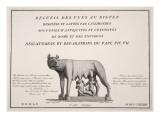 Title Page of 'Recueil Des Vues Au Bister Dessinees Et Lavees Par Callimachus Giclee Print by Agostino Tofanelli