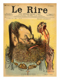 Caricature of Edouard Drumont, from the Front Cover of &#39;Le Rire&#39;, 5th March 1898 Giclee Print by Charles Leandre