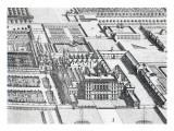 Badminton House on the County of Gloucester, Engraved by Johannes Kip Giclee Print by Leonard Knyff