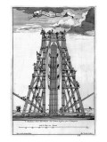 Erecting the Ancient Egyptian Obelisk in St. Peter's Square Giclee Print by Carlo Fontana