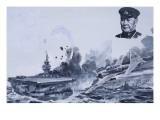 Japanese Kamikaze Attacks During World War Ii Giclee Print by Graham Coton