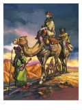 Marco Polo Crosses the Persian Deserts, from 'The Travels of Marco Polo', 1964 Giclee Print by Ron Embleton