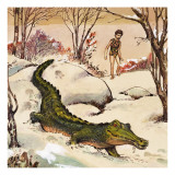 Peter Follows the Crocodile, Illustration from 'Peter Pan' by J.M. Barrie Giclee Print by Nadir Quinto
