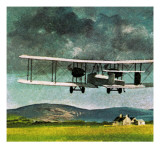 John William Alcock and Arthur Whitten Brown Who Flew across the Atlantic Giclee Print by  English School
