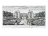 View of the Royal Chateau of Saint Maur from the Garden Side Giclee Print by Jacques Rigaud