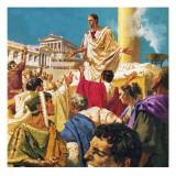 Mark Antony Addressing the Romans after Julius Caesar's Death Giclee Print by  English School