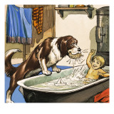 Nana Baths Michael, Illustration from 'Peter Pan' by J.M. Barrie Giclee Print by Nadir Quinto