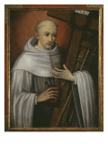 St. Bernard of Clairvaux Carrying the Instruments of the Passion Giclee Print by  Spanish School