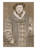 Henry Viii, Illustration from 'Cassell's Illustrated History of England' Premium Giclee Print by Hans Holbein the Younger