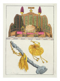 Throne of a Chinese Emperor, Yo-Yo Sceptre and Cap Giclee Print by Antonio Rancati