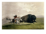 The Buffalo Chase 'singling Out', Pub. by Currier and Ives Giclee Print by George Catlin