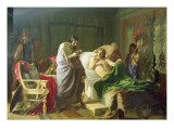 Confidence of Alexander the Great into His Physician Philippos, 1870 Giclee Print by Hendrik Siemiradzki