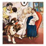 The Darling Family, Illustration from &#39;Peter Pan&#39; by J.M. Barrie Giclee Print by Nadir Quinto