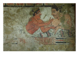 Detail of a Mural from the Tomb of the Infernal Quadriga Giclee Print by  Etruscan