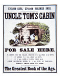 Poster Advertising 'Uncle Tom's Cabin' by Harriet Beecher Stowe Reproduction procédé giclée par American School