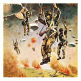 British 1st Airborne Division Dropping on Arnhem on 17th September, 1944 Giclee Print by Graham Coton
