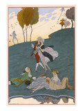 Fetes Galantes, Illustration for 'Fetes Galantes' by Paul Verlaine Giclee Print by Georges Barbier