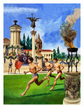The First Olympic Games, from 'The History If Our Wonderful World', 1967 Giclee Print by Peter Jackson
