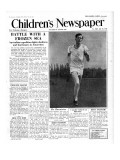 Roger Bannister, Front Page of 'The Children's Newspaper', 1954 Giclee Print by  English School