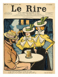 Half-Sisters, from the Front Cover of 'Le Rire', 10th September 1898 Giclee Print by  Metivet