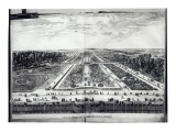 Perspective View of the Garden of Vaux-Le-Vicomte Premium Giclee Print by Israel, The Younger Silvestre