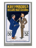 Reclame Maat Costumes, Poster Advertising Kreymborg's Dutch Tailors, 1914 Giclee Print by A. von Roessel