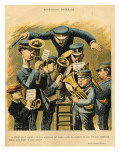 Band Rehearsal, from the Back Cover of 'Le Rire', 16th April 1898 Premium Giclee Print by Alfred Le Petit